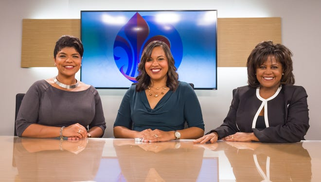 Marcelle Fontenot, Jazmin Thibodeaux, and Darla Montgomery, Opelousas natives who are all news anchors in the Lafayette TV market. Wednesday, Jan. 10, 2018.