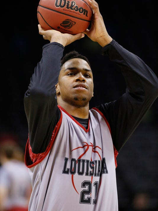 NCAA Basketball: NCAA Tournament-Louisiana Lafayette Practice