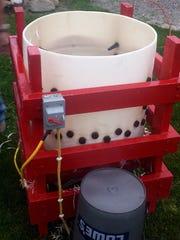 The speedy chicken-plucking machine, homemade from