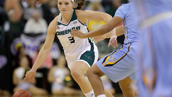 UWGB senior guard Frankie Wurtz, pictured in a game against Marquette, scored 25 points on Sunday in a win at Cleveland State.