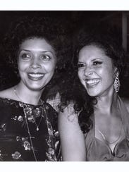 Kathy McKee, left, in a 1976 photo, with her sister,