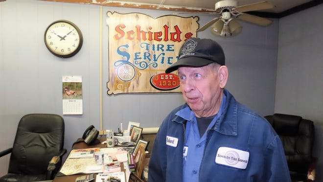 Schields Tire Service co-owner Bob Schields has worked in the business for 71 years.