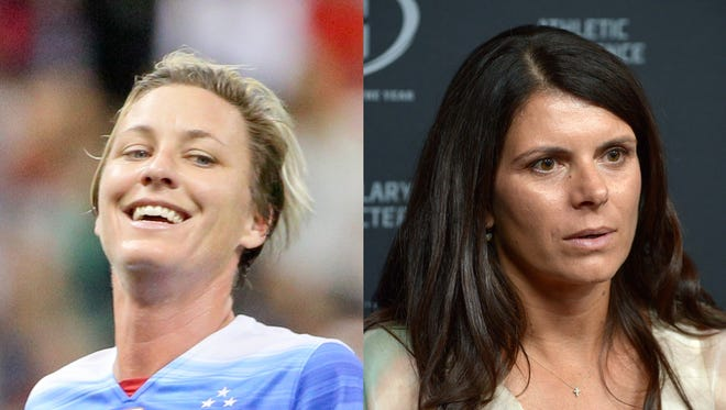 Soccer superstars Abby Wambach and Mia Hamm spoke out in support of a young girl disqualified from a tournament.