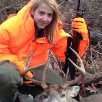 Not from a hunting family, she bagged this 10-pointer on opening day.