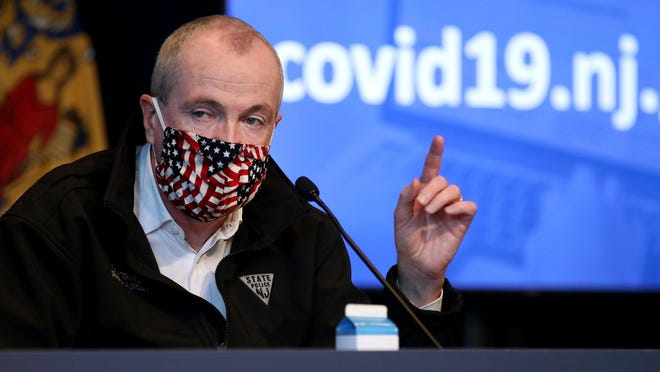 New Jersey Governor Phil Murphy wraps up his Friday, May 22, 2020, press conference at War Memorial in Trenton, NJ, on the State's response to the coronavirus.