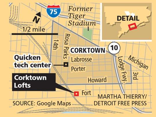 Corktown Lofts, purchased by Dan Gilbert's Bedrock.