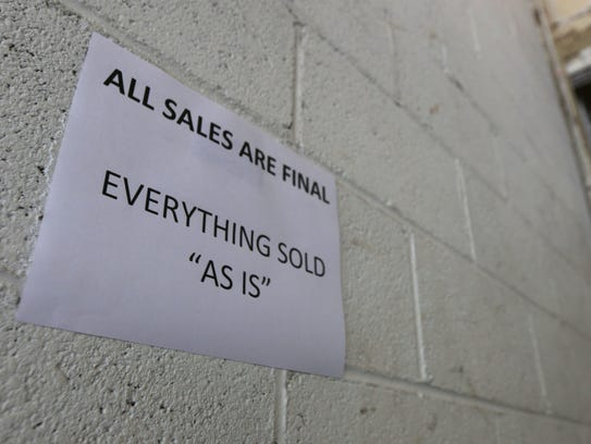 All items for sale at the Stevens Point surplus sale