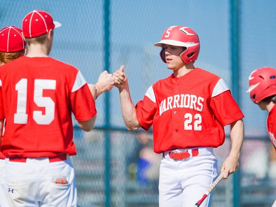 Susquehannock and Sammy Miller (22) picked up a big 11-0, six-inning win vs. Littlestown on Friday. (For The Evening Sun -- Jeff Lautenberger)