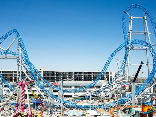 GaleForce is one of three new coasters opening at Playland Castaway Cove in Ocean City.