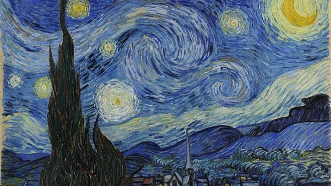 "Don McLean's ""Vincent"" was inspired by Vincent Van Gogh's 1889 painting ""The Starry Night."""
