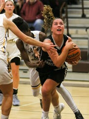 Bridgewater-Raritan's Meghan Ball grabs a rebound during