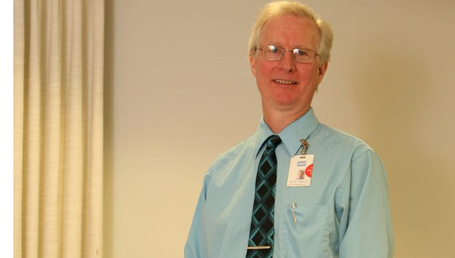 Kyle Mack, the clinical manager for Physical Therapy at the Hudson Valley Hospital Center, photographed May 6, 2014.