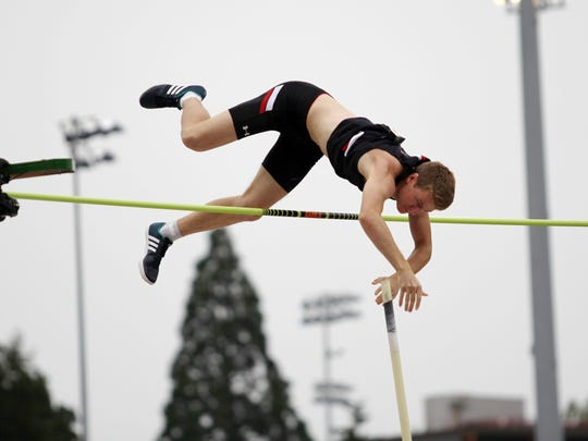 University of Cincinnati junior Adrian Valles placed second in the pole vault at the 2017 NCAA Outdoor Track & Field Championships.