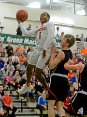 Northeastern's Fred Mulbah became well known for his tremendous leaping abilities with the Bobcats. He will take his talents in college to the University of Pittsburgh-Johnstown. YORK DISPATCH FILE PHOTO