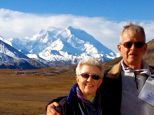 Joanne and Bob Everts at Mt. McKinley in 2014. Bob Everts was diagnosed with cancer in July 2015 and died in January 2016. They had discussed their wishes for end-of-life care, and Joanne said that preparation helped make a difficult time more manageable.
