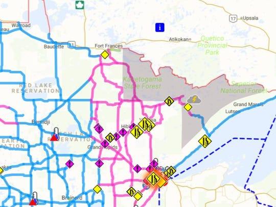 A screenshot of a Minnesota Department of Transportation