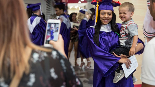 Central students take part in the 150th graduation ceremony for Muncie Central's Class of 2018 on June 4 inside Worthen Arena on Ball State's campus.