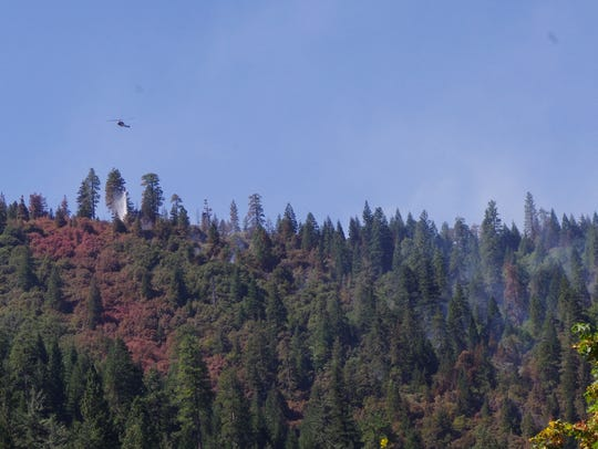 Firefighters attacked the Bradley Fire by air Tuesday
