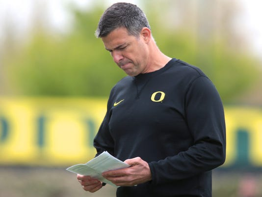 NCAA Football: Oregon Spring Practice