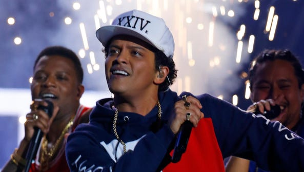 Bruno Mars will perform Aug. 13 at Bankers Life Fieldhouse.