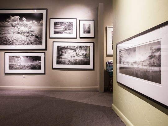 Clyde Butcher's photographs hang on the walls of his