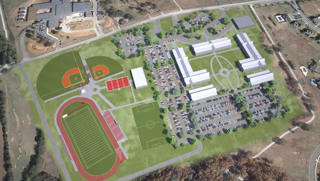 A rendering of what Page High School will look like after multi-million dollar improvements.