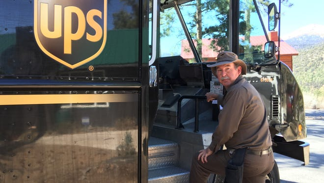 Robert Duplichan has been delivering packages in Ruidoso for 16 years.