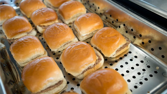 White Castle sliders run 2 for $5, or $9 for a meal that includes three sliders, a side of french fries and a regular fountain drink.