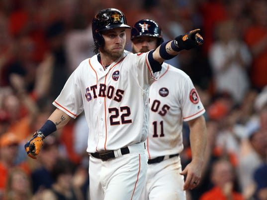 USP MLB: ALDS-BOSTON RED SOX AT HOUSTON ASTROS S BBA HOU BOS USA TX