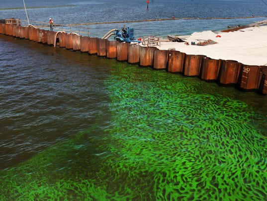 how to clean a lake of algae