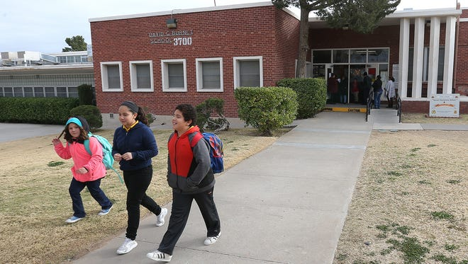 Burnet Elementary School students are dismissed for the day Tuesday. The school will close at the end of the school year as the El  Paso Independent School District looks to consolidate schools under the bond program.
