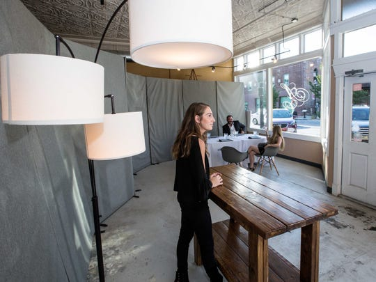 Canvas is a pop-up restaurant run by Drake Tillman and Hansel Herschend. Natalie Tillman, Drake's sister, is ready to great guests.