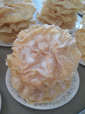 "Light, fluffy ""nothings"" pastries are enjoyed at many Amish weddings in the Berne, Indiana area."