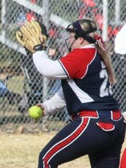 Mackenzie Huren winds up during a game last season.