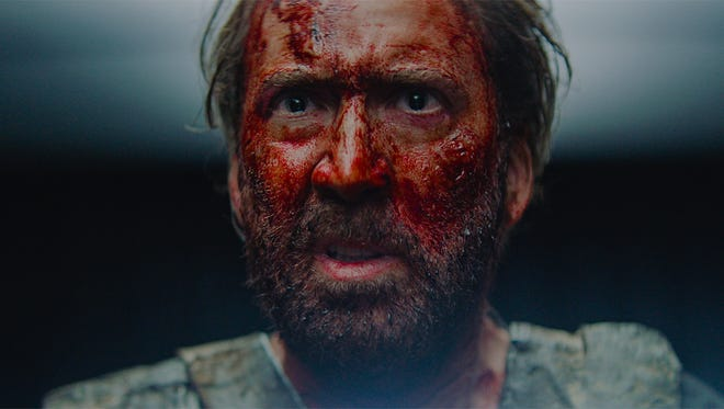 Red (Nicolas Cage) is out for blood in psychedelic revenge thriller 'Mandy.'