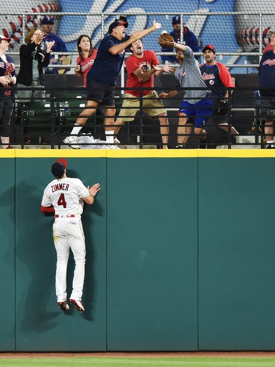 USP MLB: TEXAS RANGERS AT CLEVELAND INDIANS S BBA CLE TEX USA OH