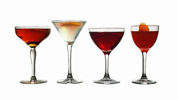 From left, the Guion, Larchmont, Suburban and Bronxville cocktails.