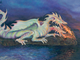 This oil painting by Micco artist Jim McMillan depicts Rojak, a two-headed fire-breathing dragon.
