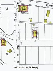 The 1920 Sanborn Fire Insurance Map of Lot 27. The