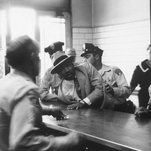 Atlanta police arrest Martin Luther King Jr. and students who took part in sit-in in downtown Atlanta on Oct. 19, 1960.