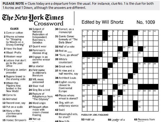 Influential image intended for printable ny times crossword puzzles