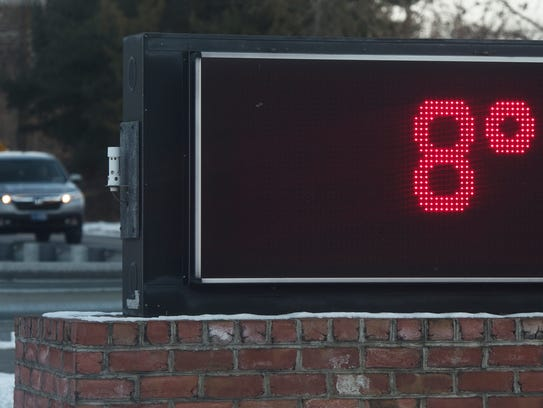 A temperature of 8 degrees was recorded around 8:30 a.m. Friday at T.B. Woods, Chambersburg - but the wind chill made it feel below zero.  Saturday will have much of the same. Relief will come next week.