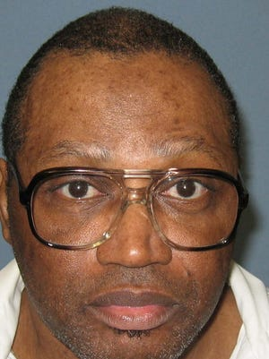 This undated file photo provided by the Alabama Department of Corrections shows a police mug shot of Vernon Madison, who is scheduled to be executed for the 1985 murder of Mobile police officer Julius Schulte on Thursday. Alabama is asking the U.S. Supreme Court to let it proceed with this week's scheduled execution of the 67-year-old inmate whose lawyers say can no longer remember his crime. The Alabama attorney general's office told justices in a filing Monday that the state's high court last year ruled the execution could proceed and should do so again.