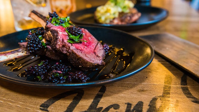 Now Open: Hand Cut | Venison rib chops are served with a port wine reduction and fresh blackberry relish at Hand Cut in Scottsdale.