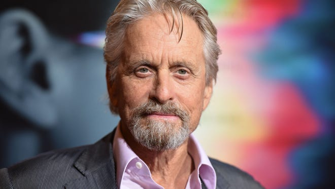 Actor Michael Douglas arrives for the premiere of 'Flatliners' last week in Los Angeles. Douglas produced the sci-fi horror film and the 1990 original.