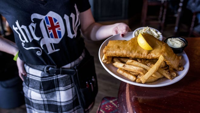 "Fish and Chips at The Pub, which won ""best fish and chips in the US"" from an English pub owner and brewer"