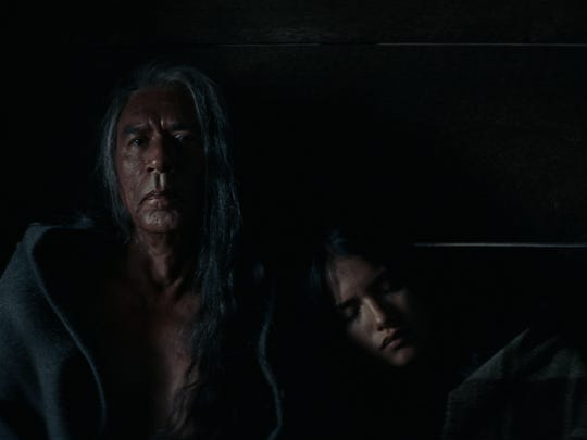 "Wes Studi and Tanaya Beatty in ""Hostiles."""