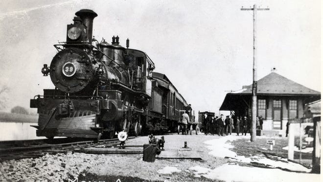 A passenger train from the Cumberland Valley Railroad stops at the Mont Alto station in the early 1900s.