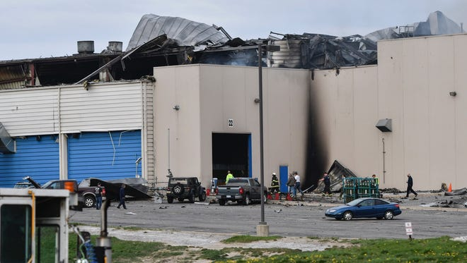 A morning fire at Meridian Magnesium Products of America, Inc. in Eaton Rapids created heavy damage to the building.