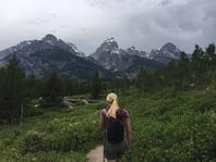 Enquirer producer Gin Ando and his fiancee Lauren went to Grand Teton National Park in Wyoming.